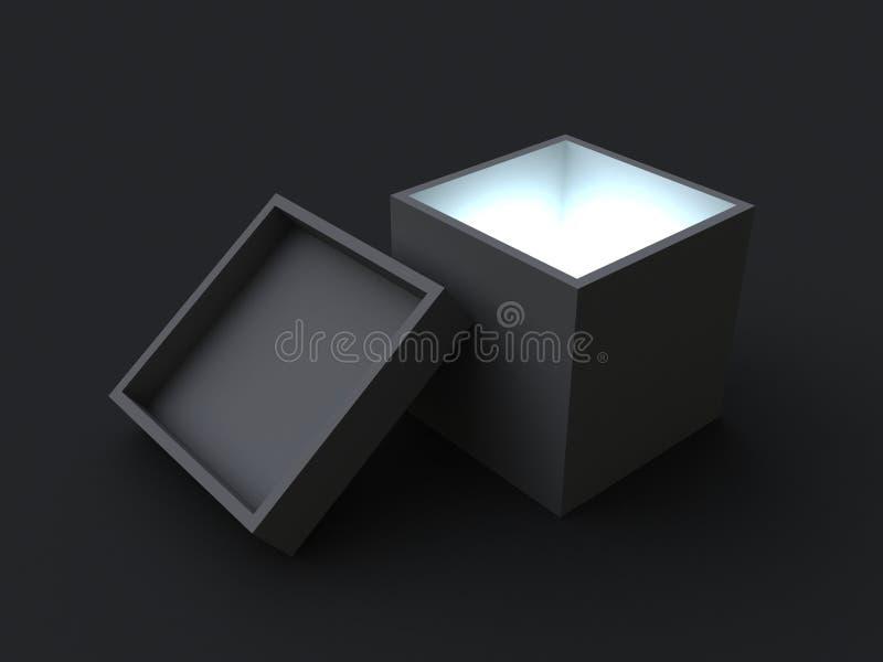 Mystery box vector illustration