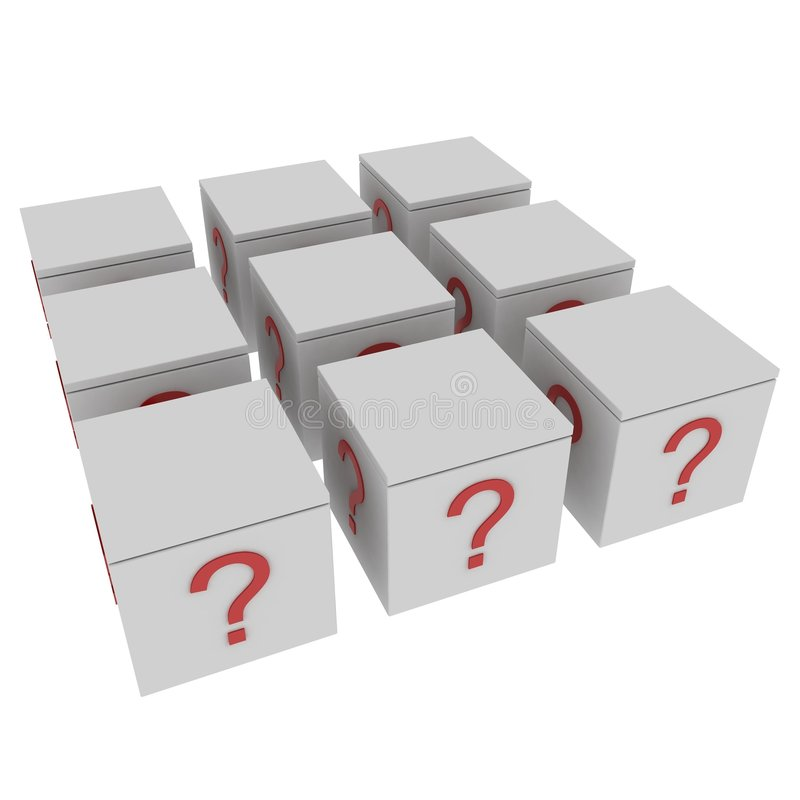 Mystery Boxes Royalty Free Stock Image