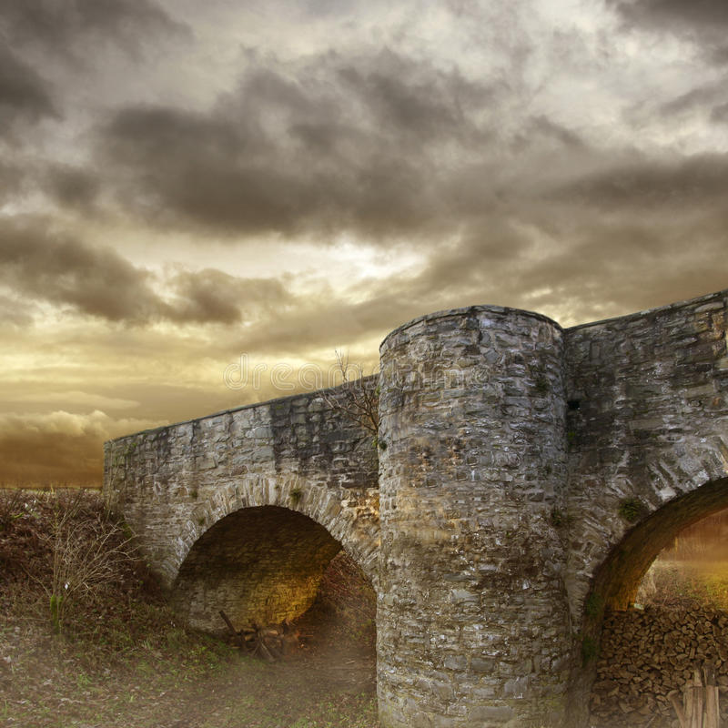 Download Mystery Bridge stock illustration. Image of country, european - 14832395