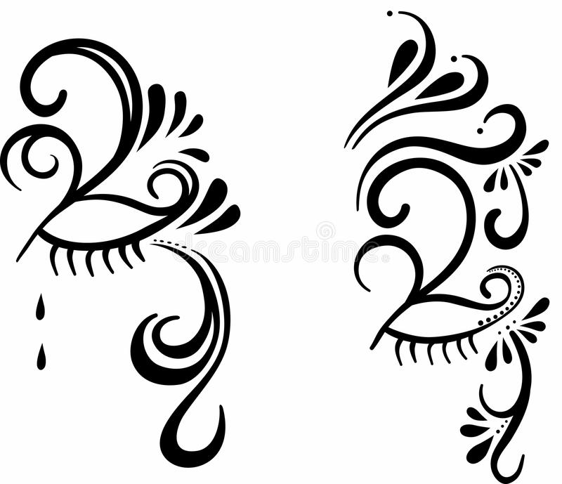 Download Mystery face paint stock vector. Image of festival, opera - 21424509