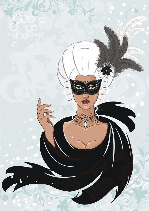 Download Mystery girl stock illustration. Illustration of human - 12956903