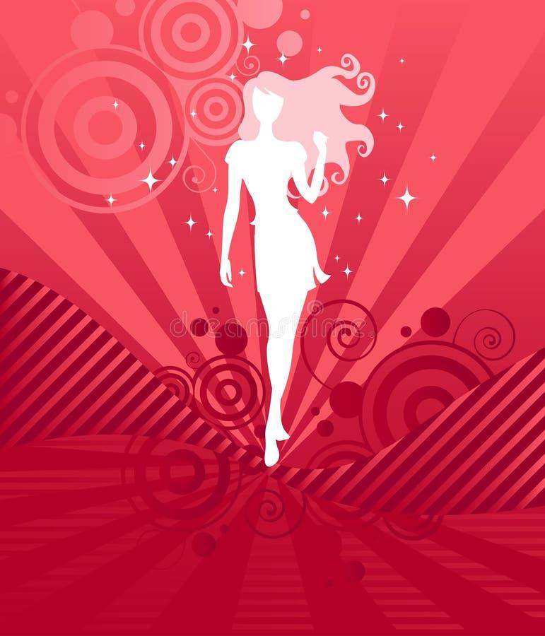 Mystery Girl royalty free illustration