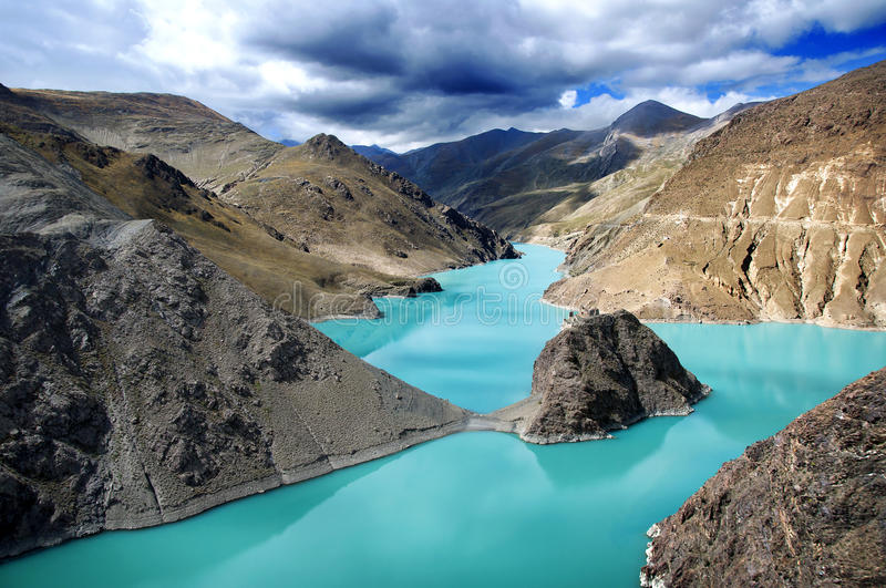 Mystery. The great view in Tibet stock photos