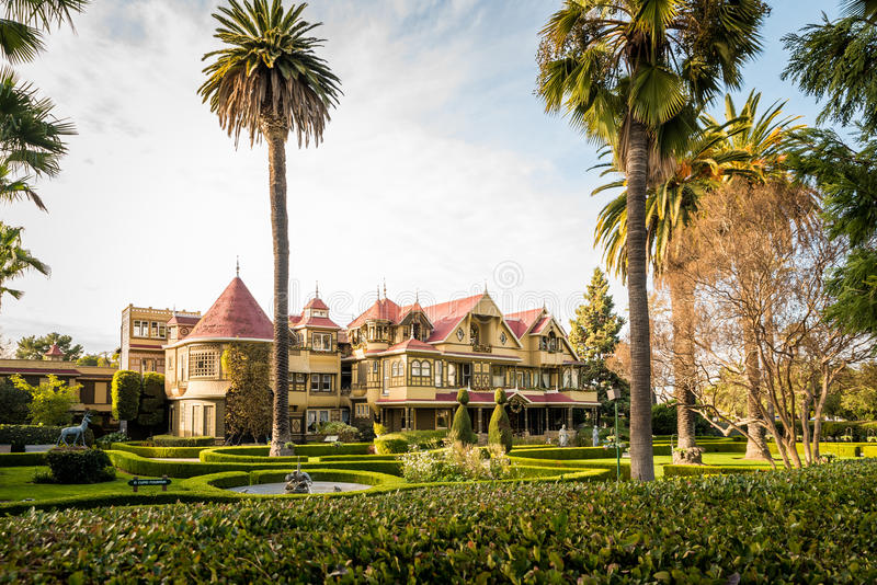 Mystery House Museum in San Jose. San Jose, CA, USA - December 25 2016: Winchester Mystery House Museum royalty free stock photography