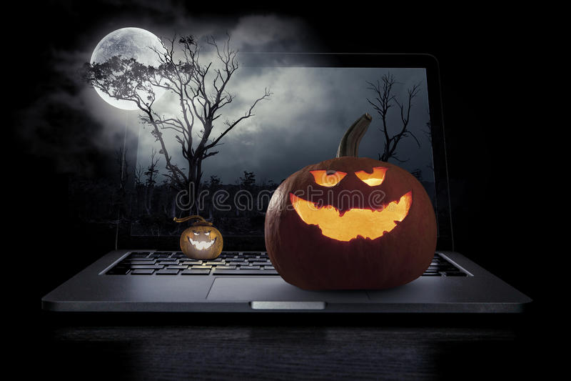 Mystery of Jack pumpkin stock image