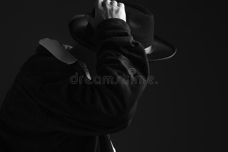 Mystery Man with Hat stock images
