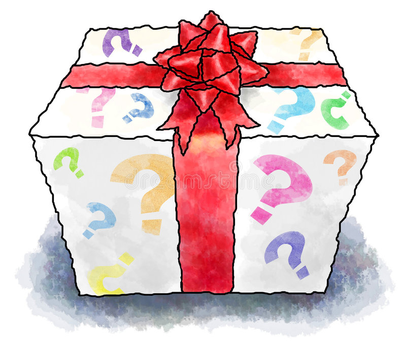 Download Mystery present stock illustration. Image of present, wrapping - 3259397