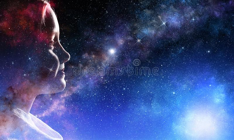 Mystery of space world royalty free stock photography
