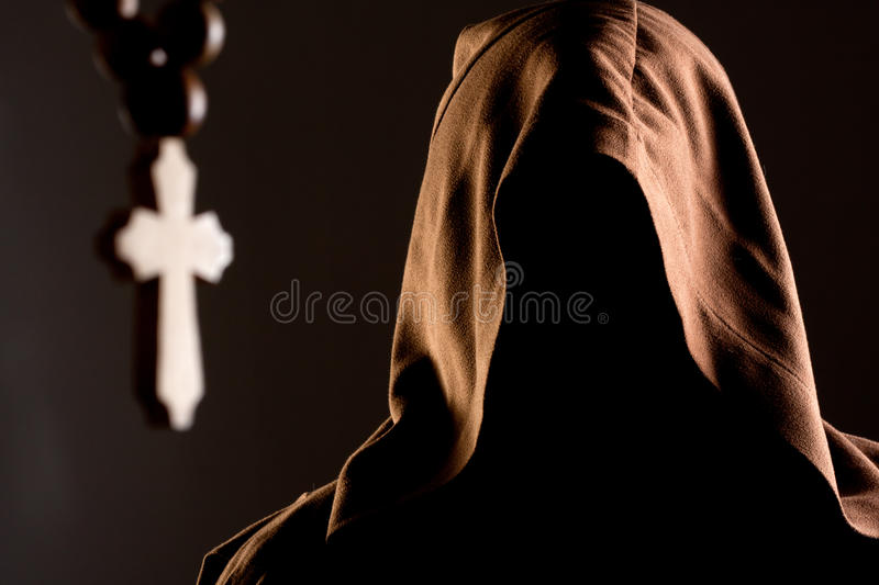 Download Mystery Unrecognizable Monk Stock Image - Image: 19721193