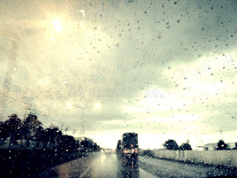 mystery way in rainy day royalty free stock photography