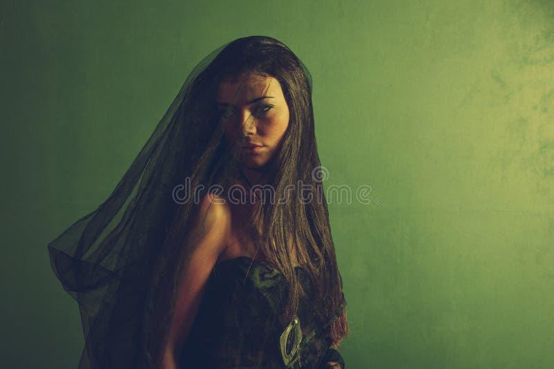 Mystery woman royalty free stock photos