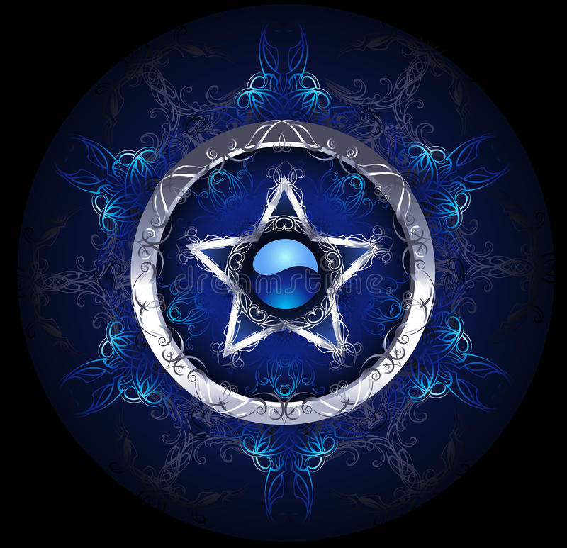 Mystic blue star royalty free illustration