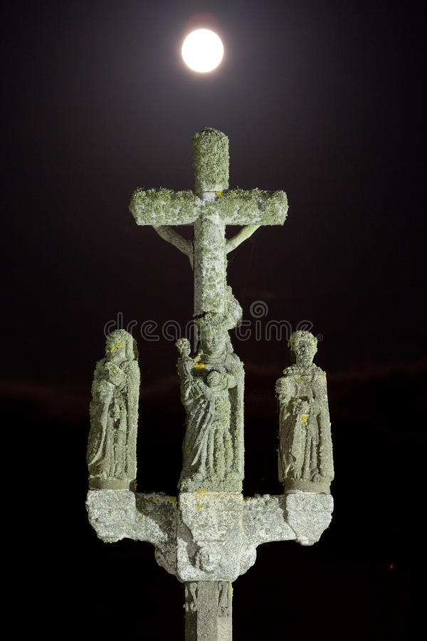 Download Mystic calvary at night stock image. Image of christian - 11026563