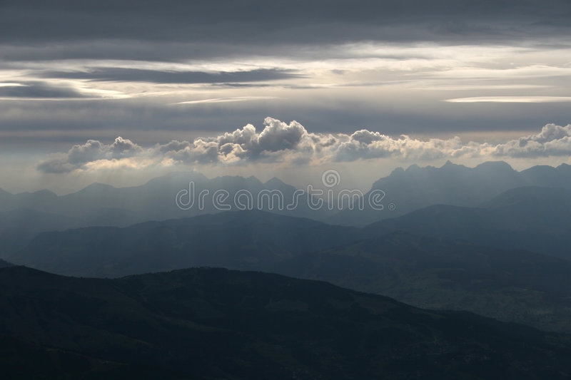 Mystic clouds royalty free stock photo