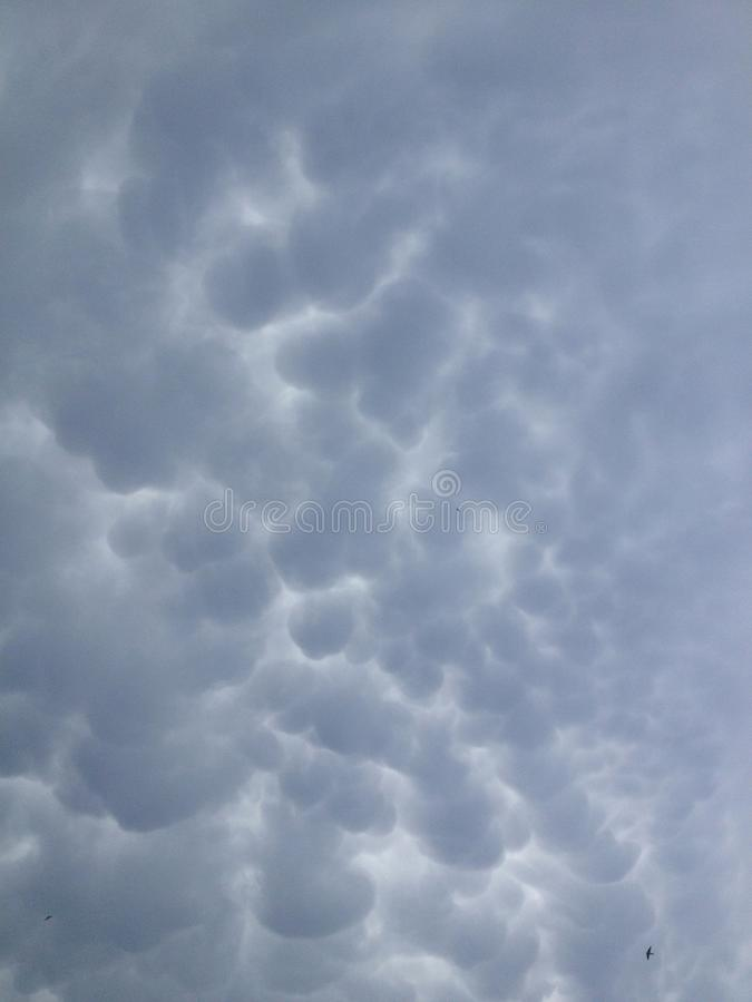 Mystic clouds stock photography
