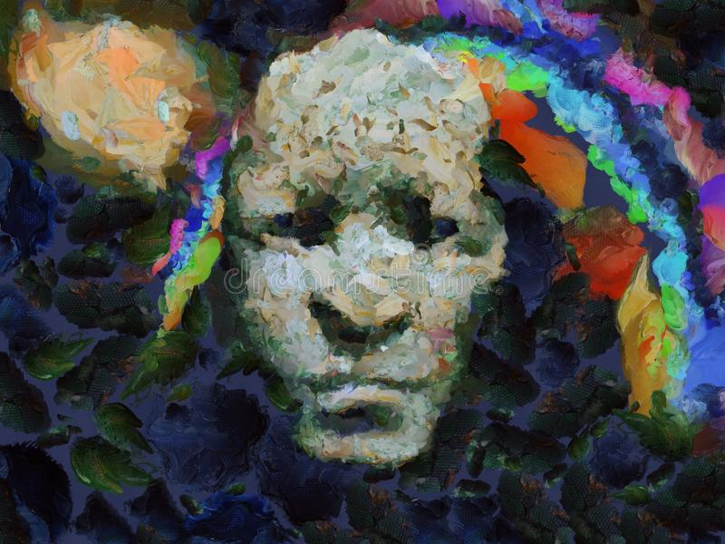 Mystic face stock illustration