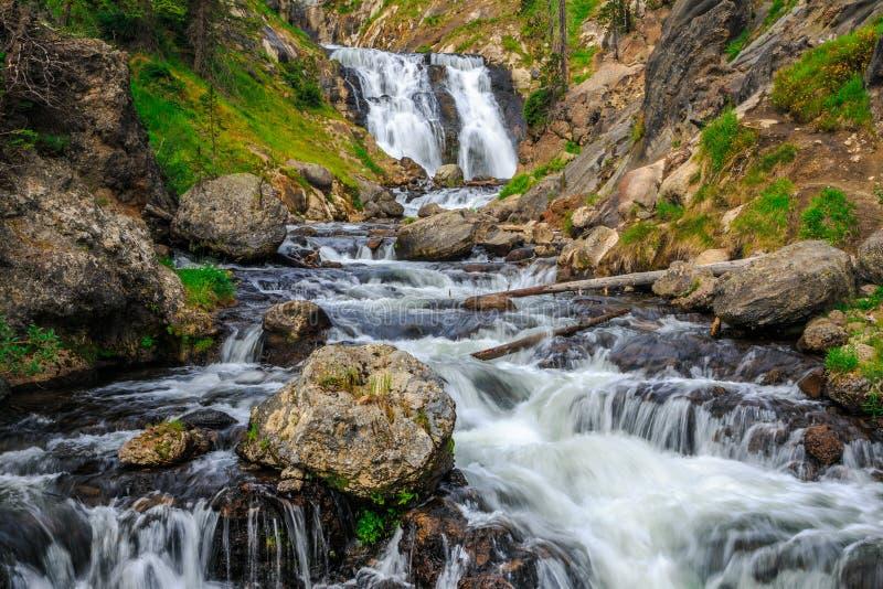 Mystic Falls in Yellowstone National Park fotografia de stock royalty free