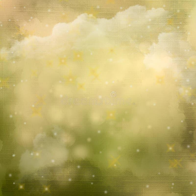 Mystic greenabstrakt begreppbakgrund. stock illustrationer