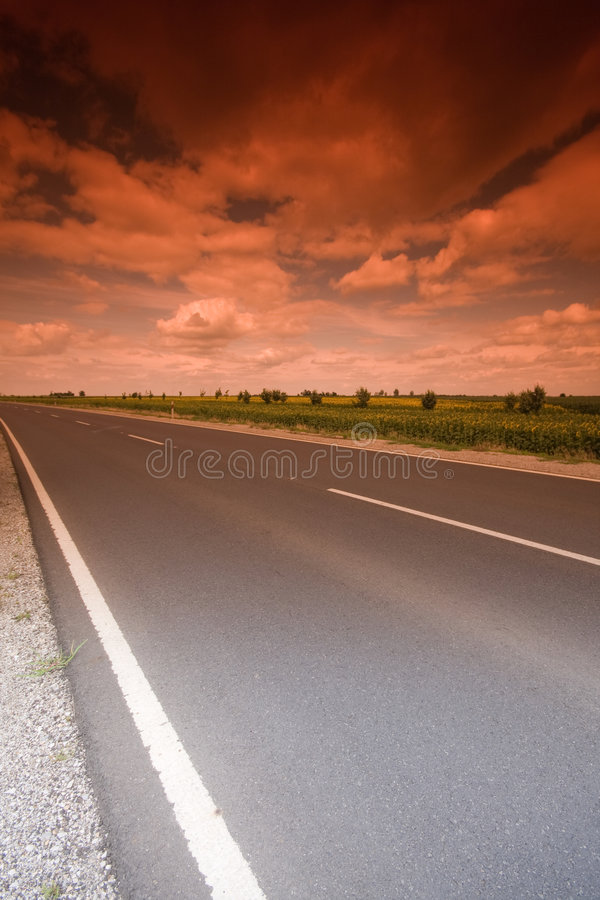 Mystic highway stock photography