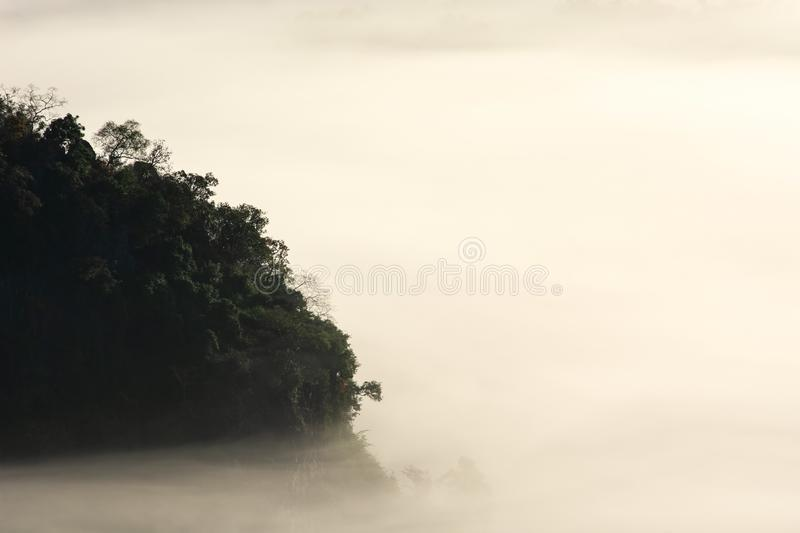 Mystic mist valley in Thailand royalty free stock photography
