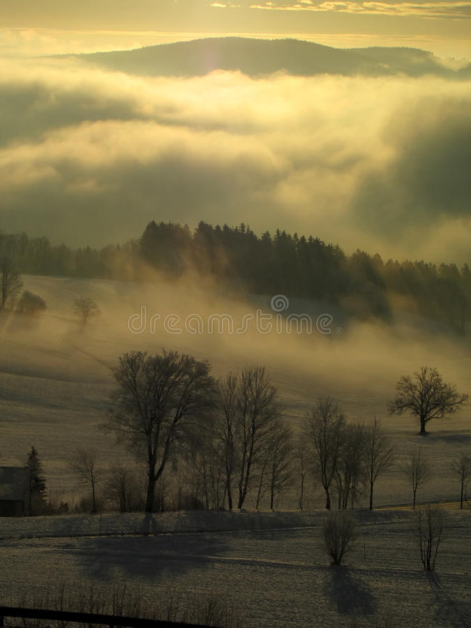 Download Mystic morning stock photo. Image of cold, abandoned - 12075104
