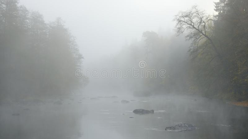 Mystic river Ohře royalty free stock image
