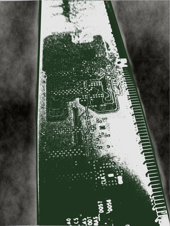 Mystic road. RAM , computer part in the mist stock image