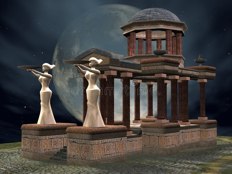 Mystic Temple stock illustration