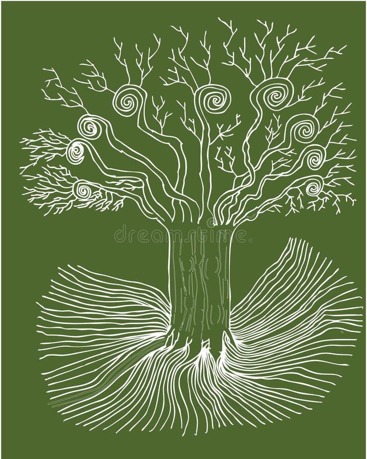 mystic tree vektor illustrationer
