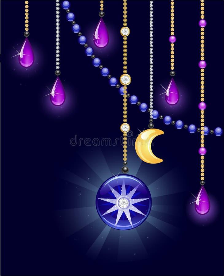 Mystical bijouterie royalty free illustration