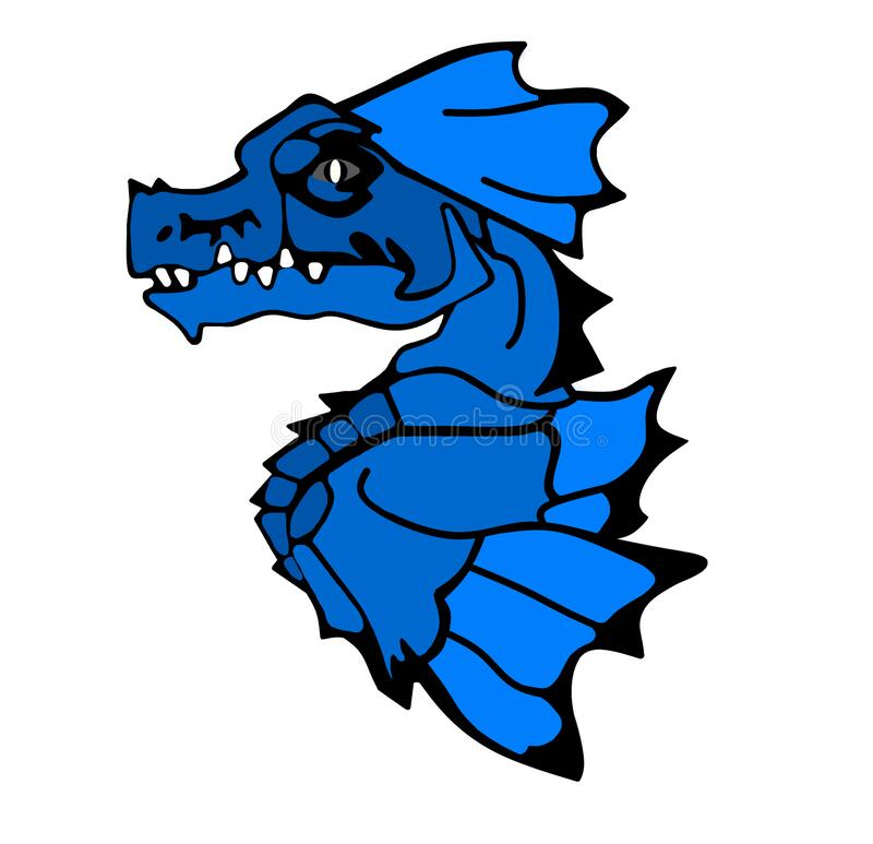 Free Mystical Blue Dragon On A White Or Transparent Background Royalty Free Stock Photography - 179447027