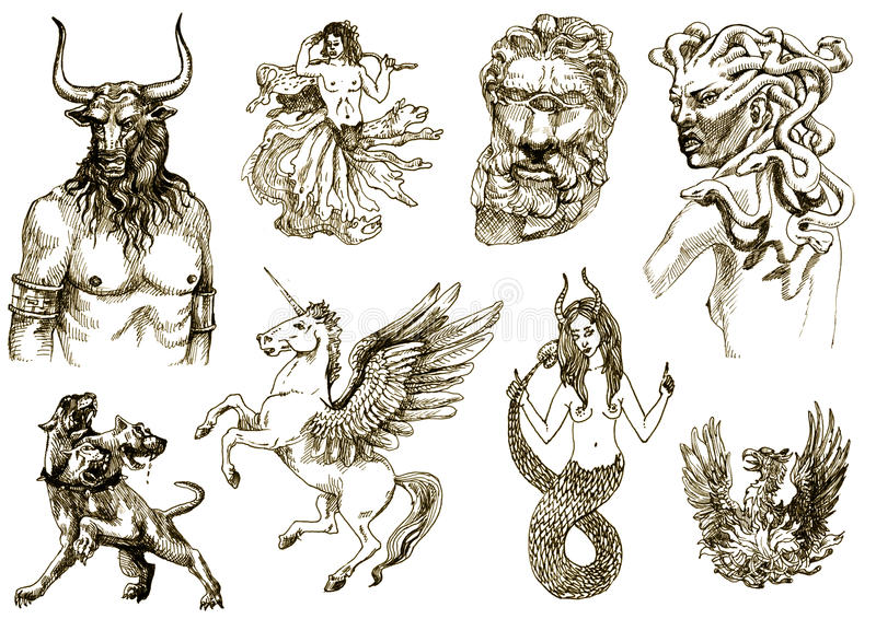 Mystical creatures II royalty free illustration