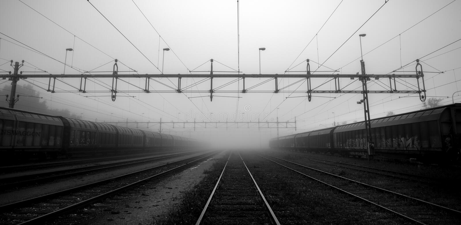 Mystical feel to the train tracks royalty free stock images