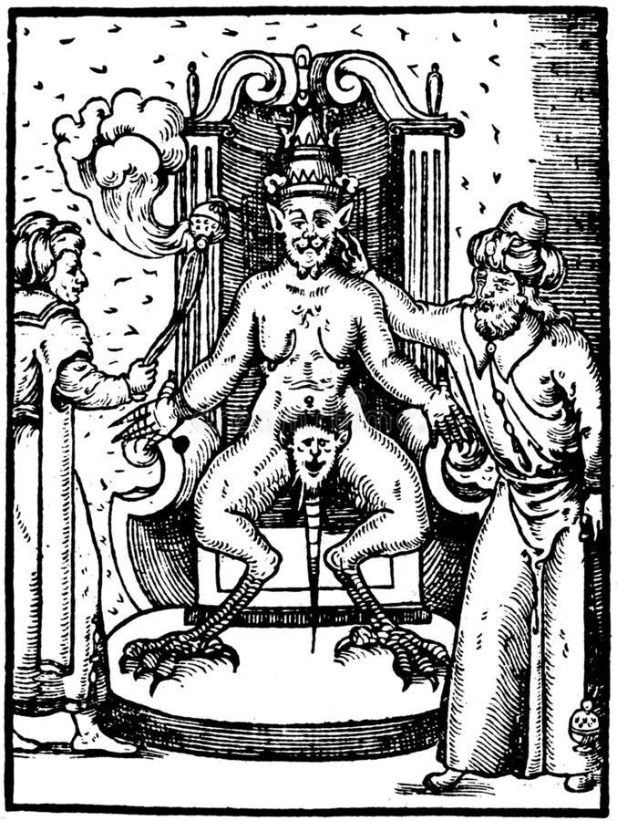 Mystical ink illustration royalty free stock photos
