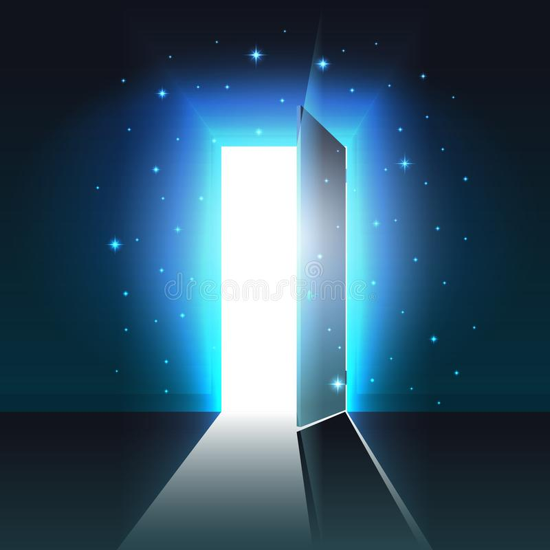 Free Mystical Light From The Open Door Of A Dark Room Abstract Glowing Exit, Background, Open Door Template, Mock Up Stock Images - 128141264