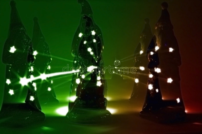 Mystical Lights of St. Nick royalty free stock photo