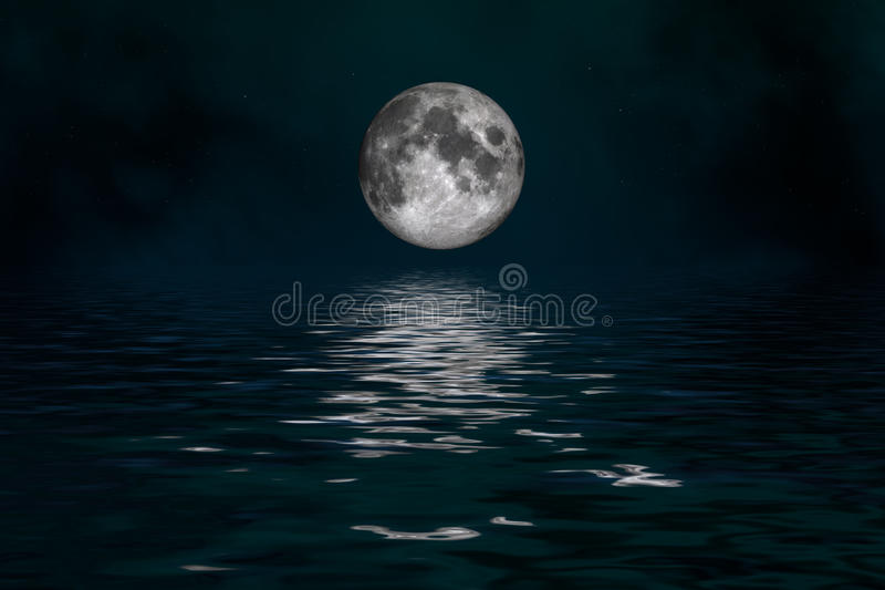 Mystical Moon. Space landscape: mysterious moon (image created Institute Cinema 4d, and Photoshop stock illustration