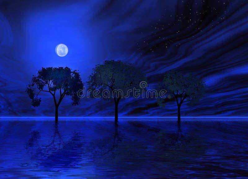 Mystical moon light royalty free illustration
