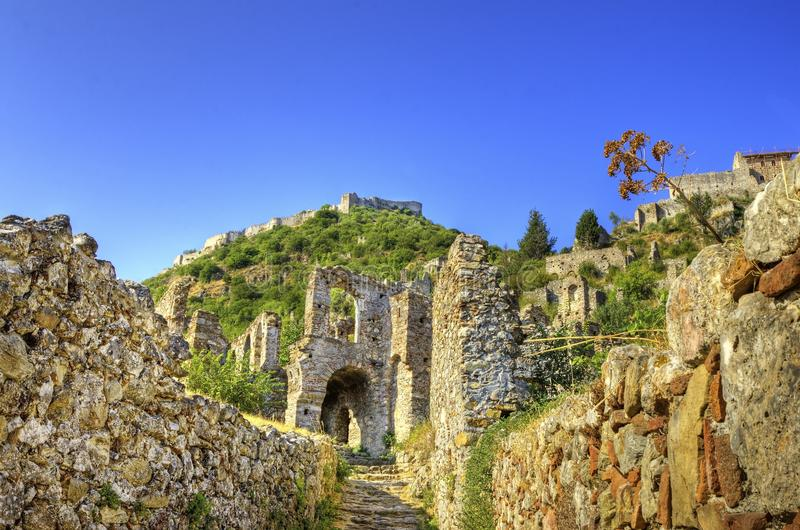 Mystical Mystras royalty free stock image