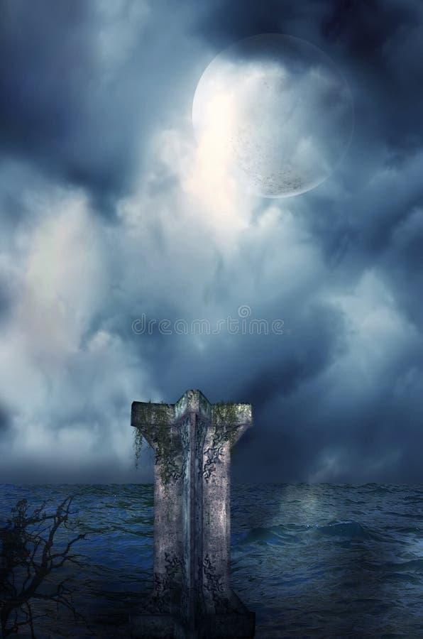 Mystical night stock photo