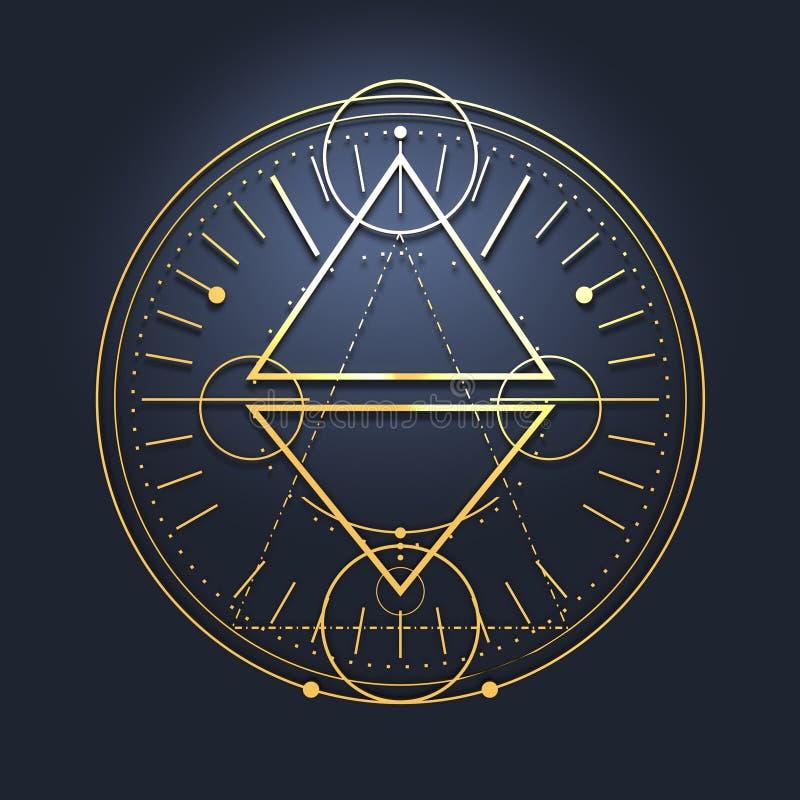 Mystical occult symbol. vector illustration