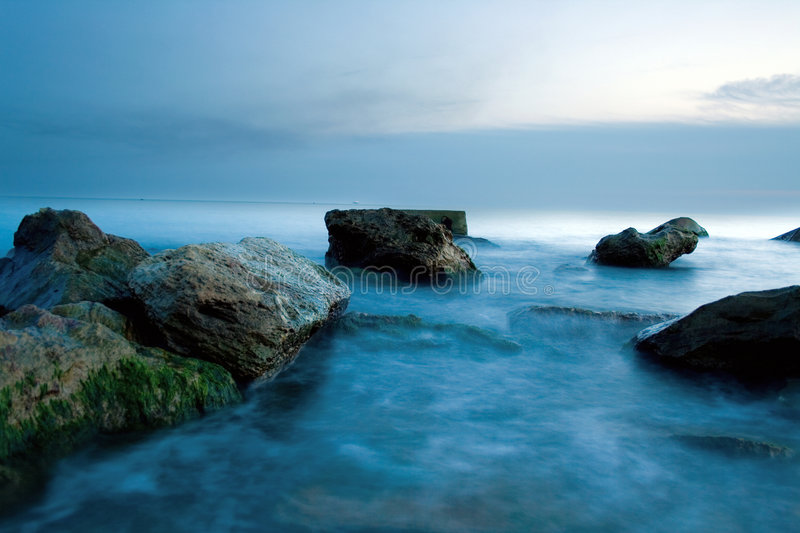 Mystical sea stock photography