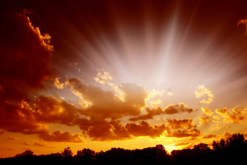 Mystical sky royalty free stock photography