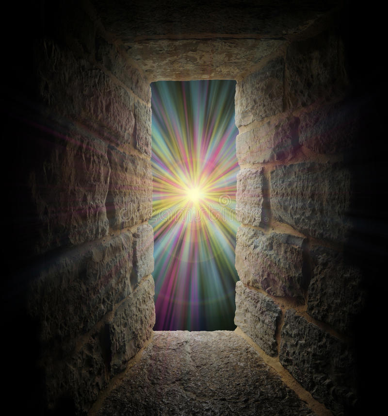 Free Mystical Stone Window Or Portal To A Pastel Vortex Stock Photography - 16963812