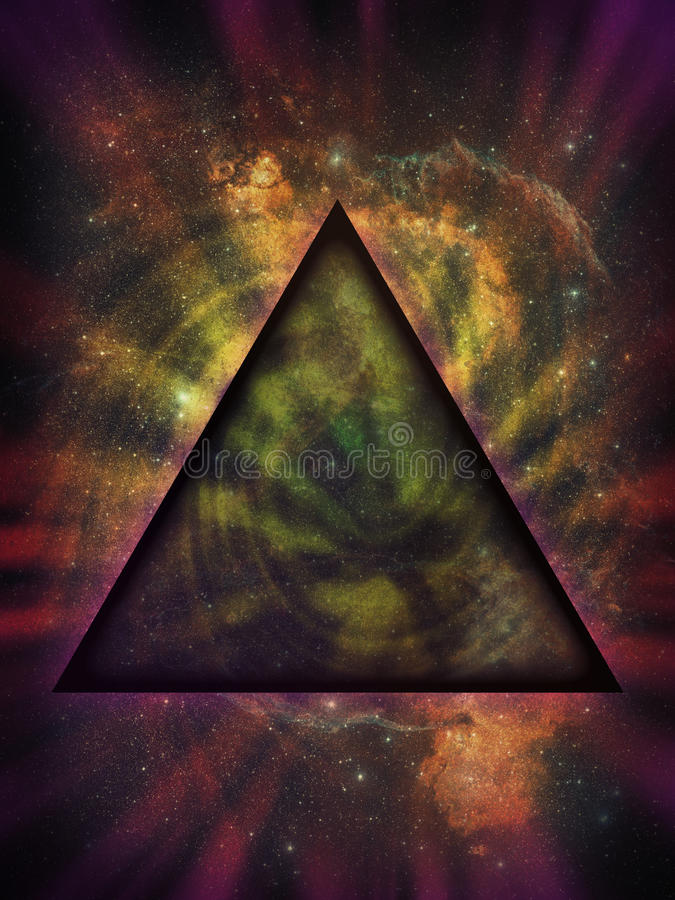 Free Mystical Triangle Against Deep Space Background Royalty Free Stock Photos - 18689808