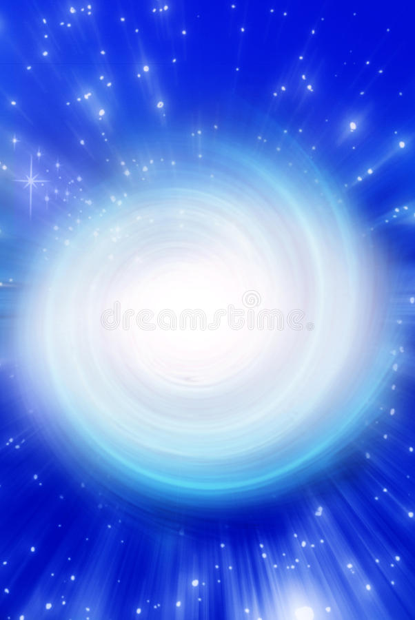 Mystical whirl. Mystical background with whirl, stars and rays of light royalty free stock images