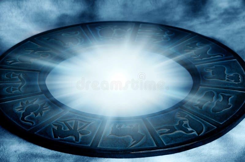 Mystical zodiac stock photos