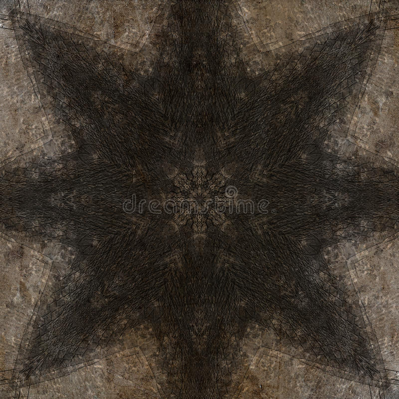 Mystiek symbool, mooie abstracte decoratie stock fotografie