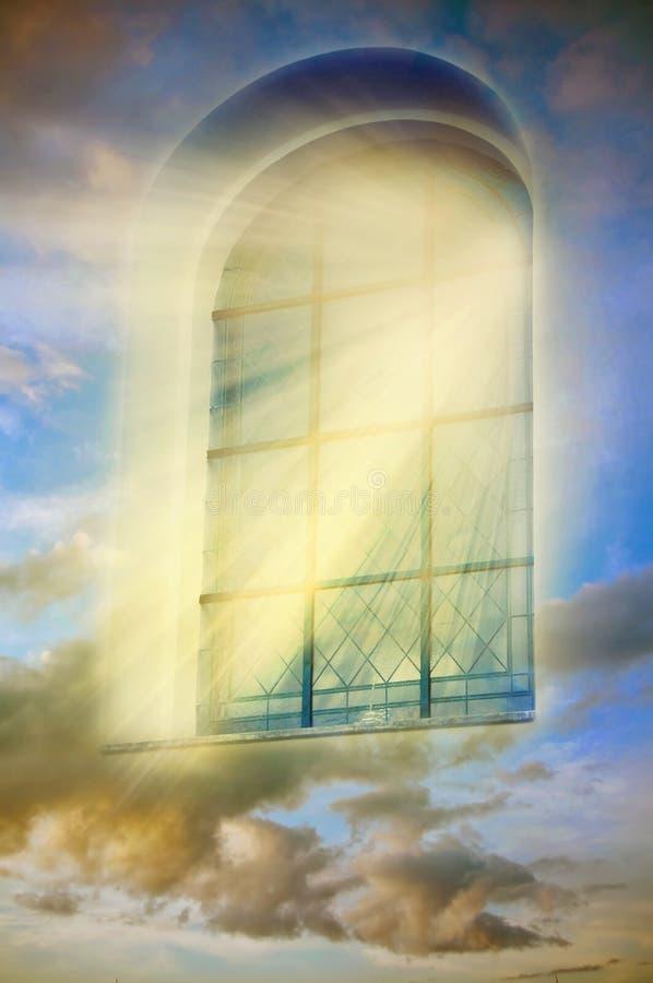 Mystiek venster stock afbeelding