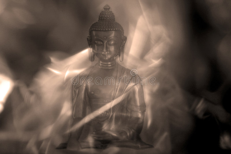 Mystieke Boedha stock afbeelding
